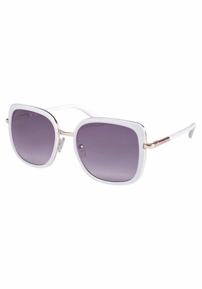 catwalk Eyewear Sonnenbrille mit Rahmen im Materialmix in weiß-goldfarben