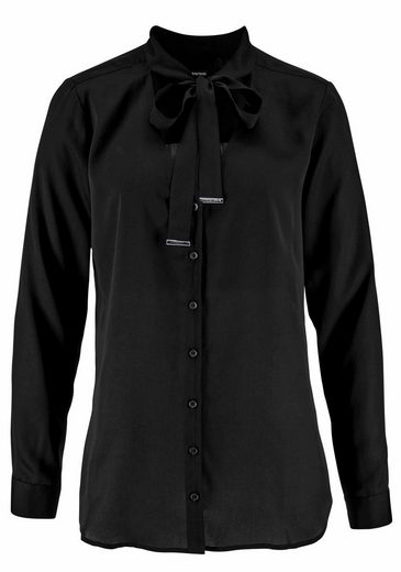 Bruno Banani Bow Blouse With Tie Belt And Refined Logo-metal-detail