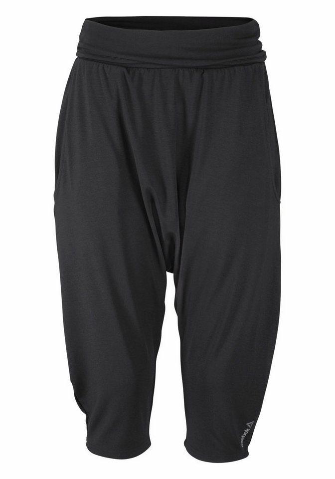 Reebok Yogahose »YOGA Slouchy Capri« in schwarz