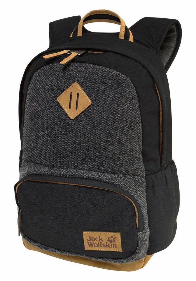 Jack Wolfskin Daypack »WOOLEY« teilweise mit Wolle in schwarz-grau