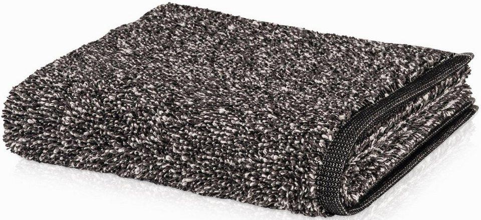 Handtuch, Möve, »Architecture Melange«, in Melange-Optik in schwarz