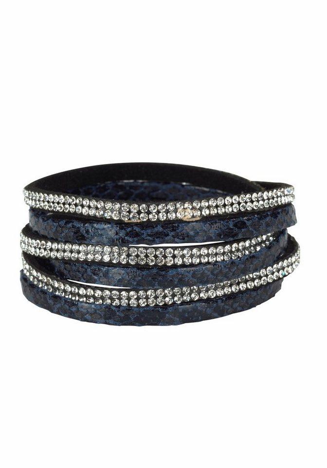 J. Jayz Armband »zum Wickeln« in blau-kristall