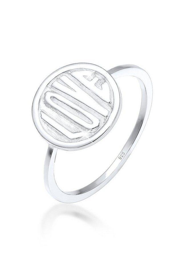 Elli Ring »Love-Schriftzug Siegelring Statement 925 Silber« | Schmuck > Ringe > Siegelringe | Elli