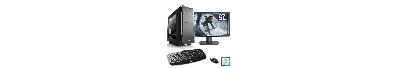 "CSL Gaming PC Set i7-6700K | GTX 1070 | 32 GB DDR4 | SSD | 27"" TFT »Immortalis T7370 Windows 10«"