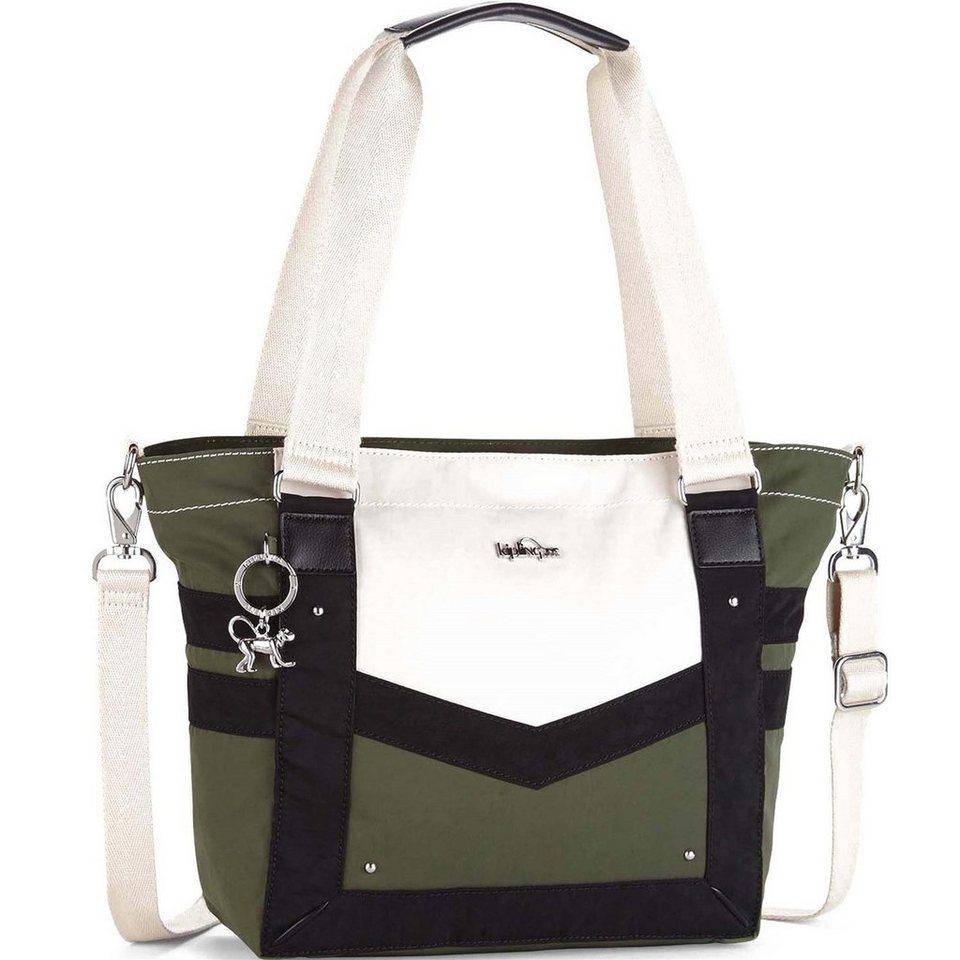 Kipling Basic Elyse Shopper Tasche 40 cm in cactus khaki bl