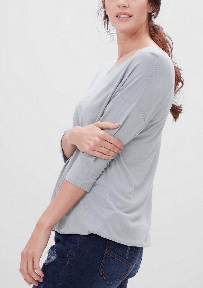 TRIANGLE Fledermaus-Shirt aus Viskose in silk grey