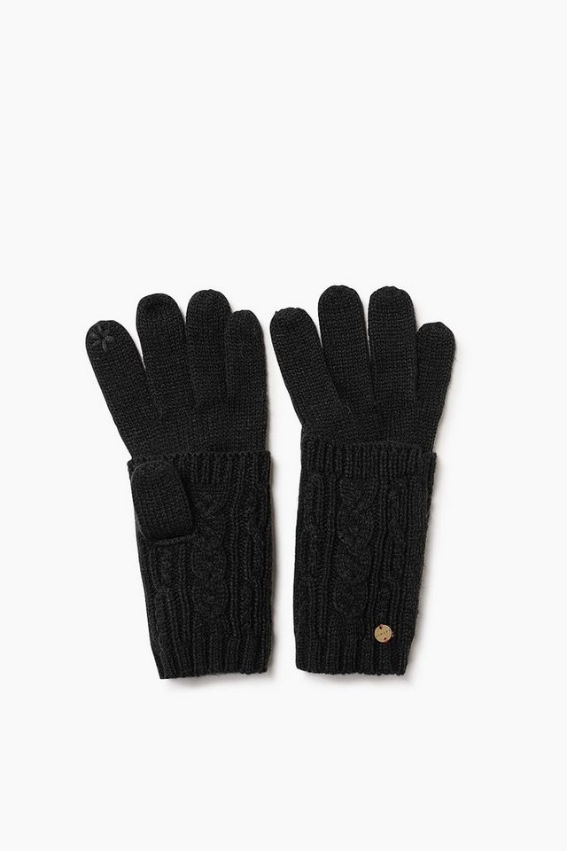 ESPRIT CASUAL Touchscreen Strickhandschuhe mit Stulpen in BLACK