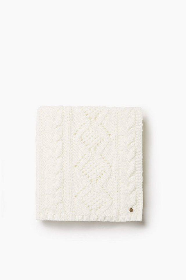 ESPRIT CASUAL Weicher Grobstrick-Schal mit Muster-Mix in OFF WHITE