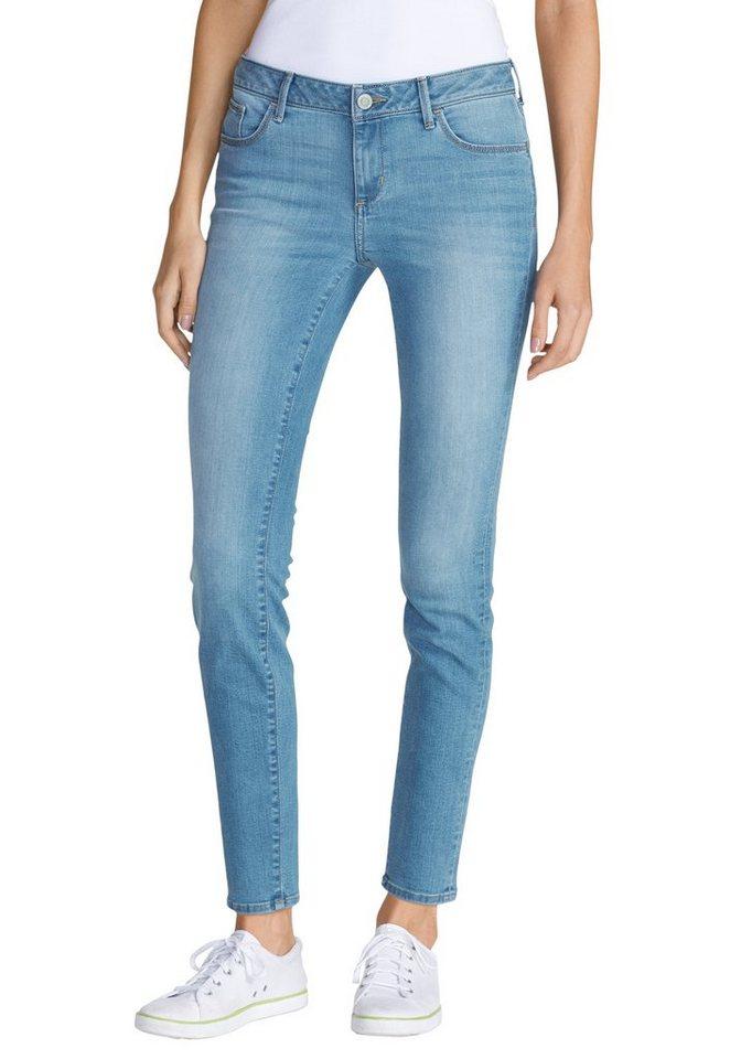 Eddie Bauer Slim Leg Jeans in Weathered Indigo