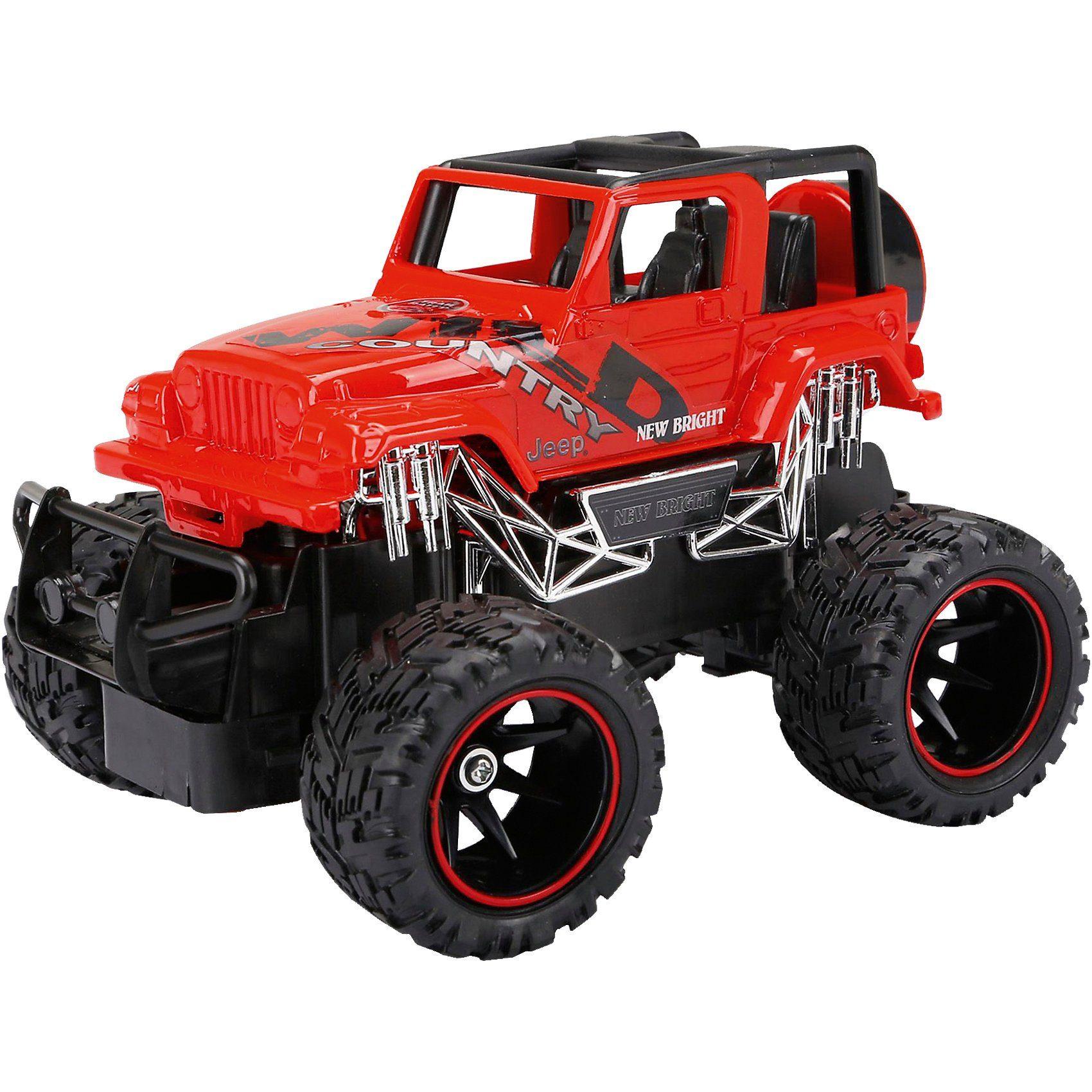 New Bright RC Fahrzeug Jeep Wrangler rot 1:24