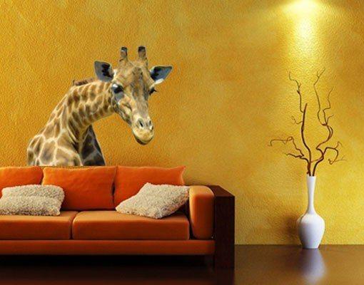 Bilderwelten Wandtattoo »No.21 Neugierige Giraffe« in Braun