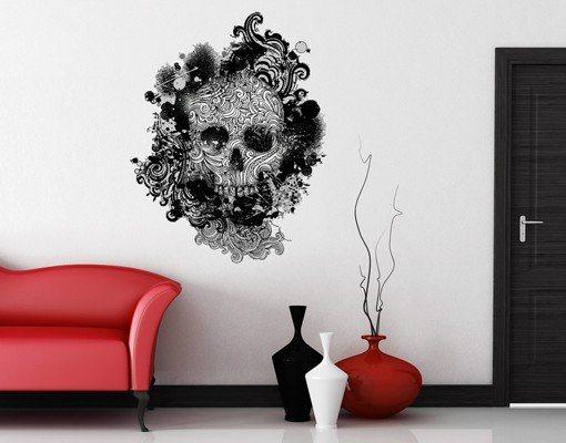 Bilderwelten Wandtattoo »No.503 Skull« in Weiß