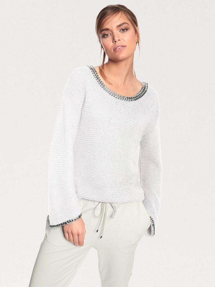 RICK CARDONA by Heine Oversized-Pullover mit Nieten in offwhite