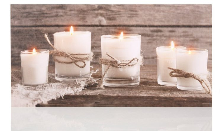 Dreams LED-Bild »Candle«, Kerzen, batteriebetrieben