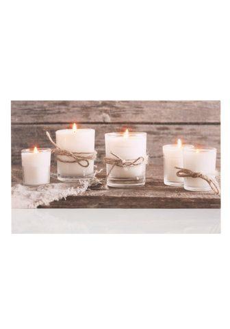 DREAMS Paveikslas su LED lemputėmis »Candle«