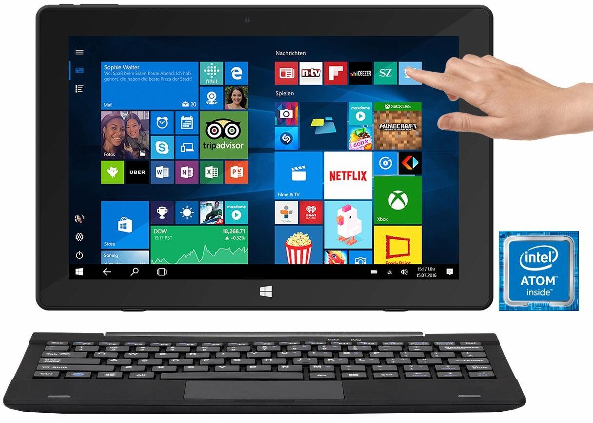 TrekStor SurfTab twin 10.1 Convertible Notebook, Intel® Atom™, 25,7 cm (10,1 Zoll), 64 GB Speicher