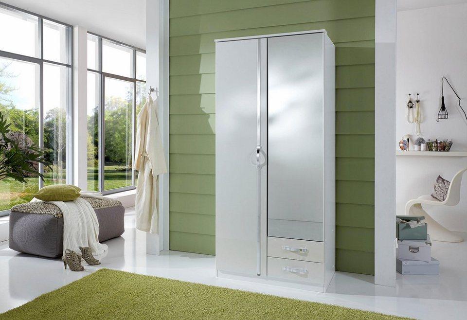 WIMEX Kleiderschrank in weiß/Hochglanz weiß
