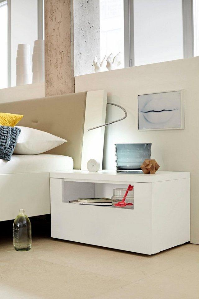 now by h lsta nachtkonsole now time in lack wei oder natureiche online kaufen otto. Black Bedroom Furniture Sets. Home Design Ideas