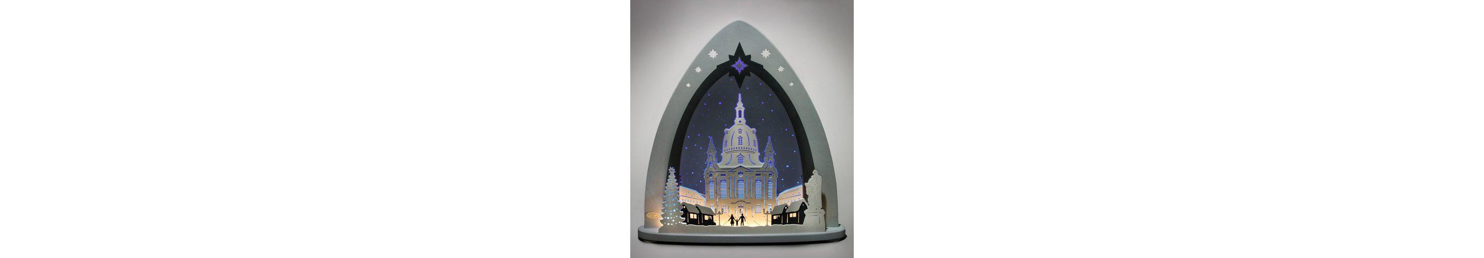 Weigla® Lichterspitze, LED, »Dresdner Frauenkirche«