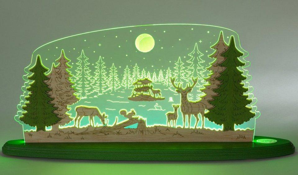 Weigla® Motivleuchte, »Waldidylle« in transparent/natur/grün