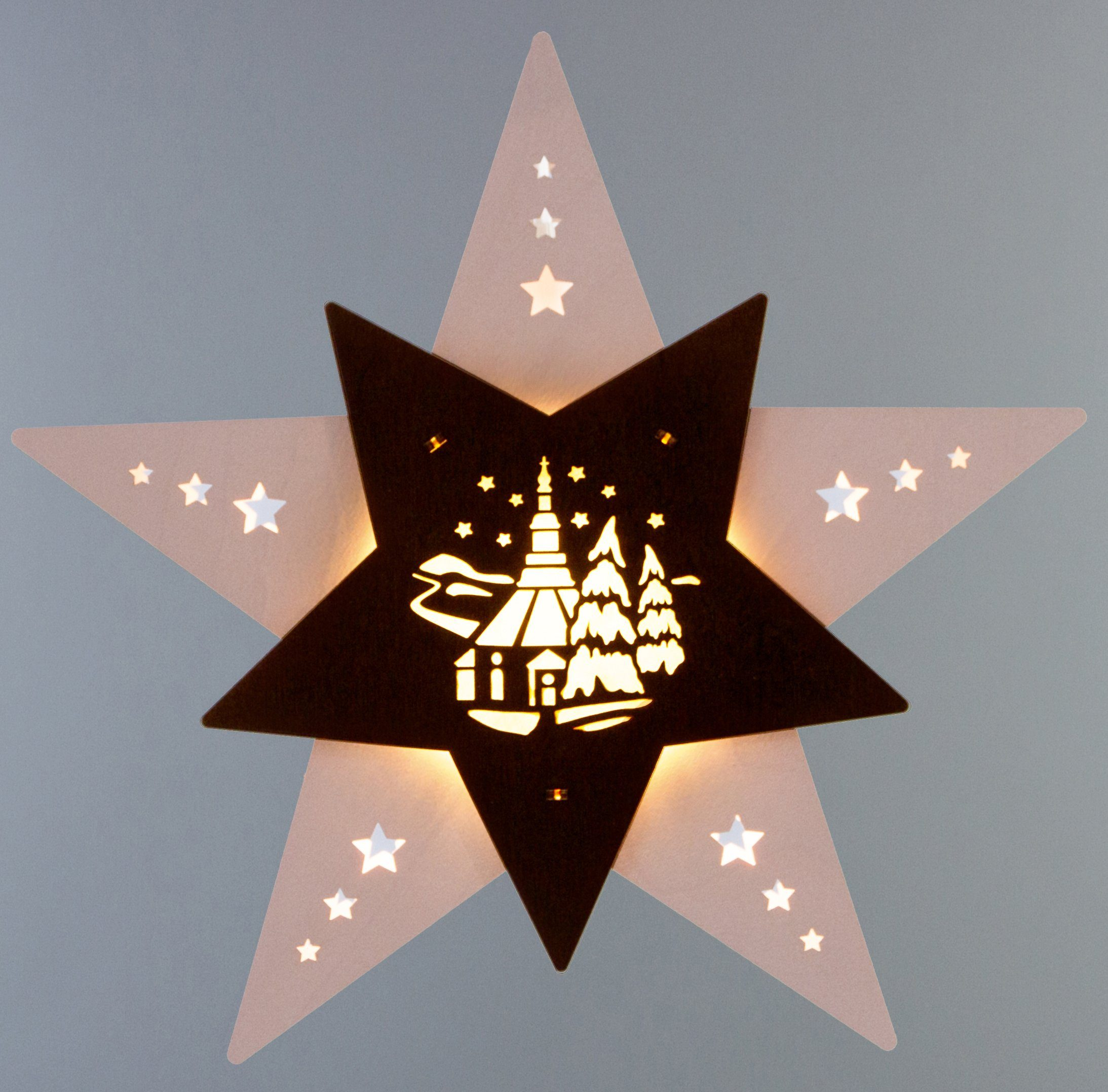 Weigla® Fensterbild, LED, »Seiffener Kirche«