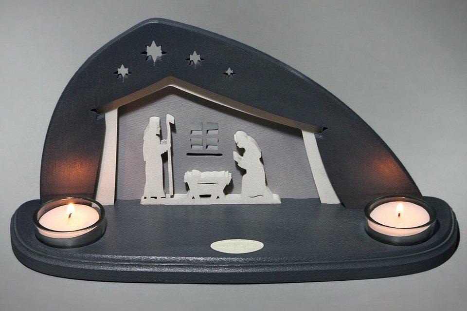 Weigla® Teelichthalter, »Bethlehem« in braun/grau