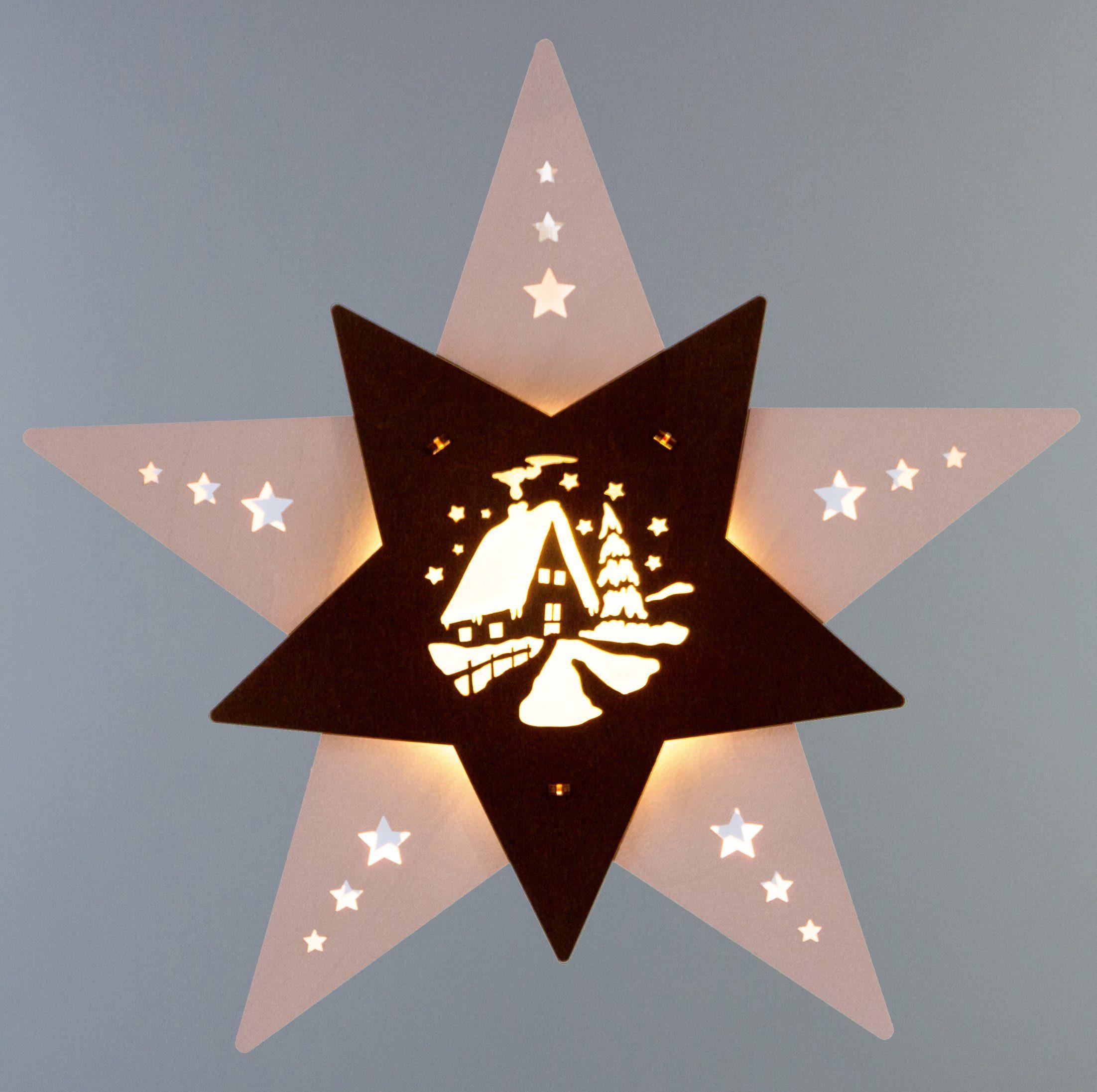 Weigla® Fensterbild, LED, »Waldhütte«