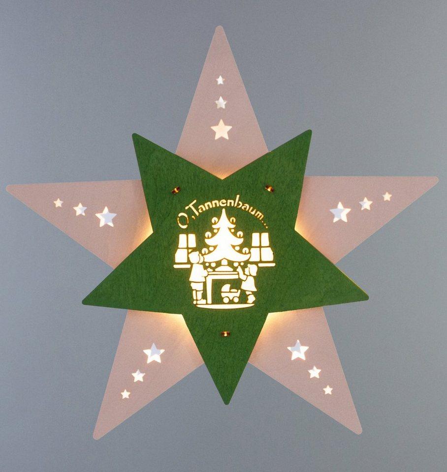 Weigla® Fensterbild, LED, »Oh Tannenbaum« in natur/grün