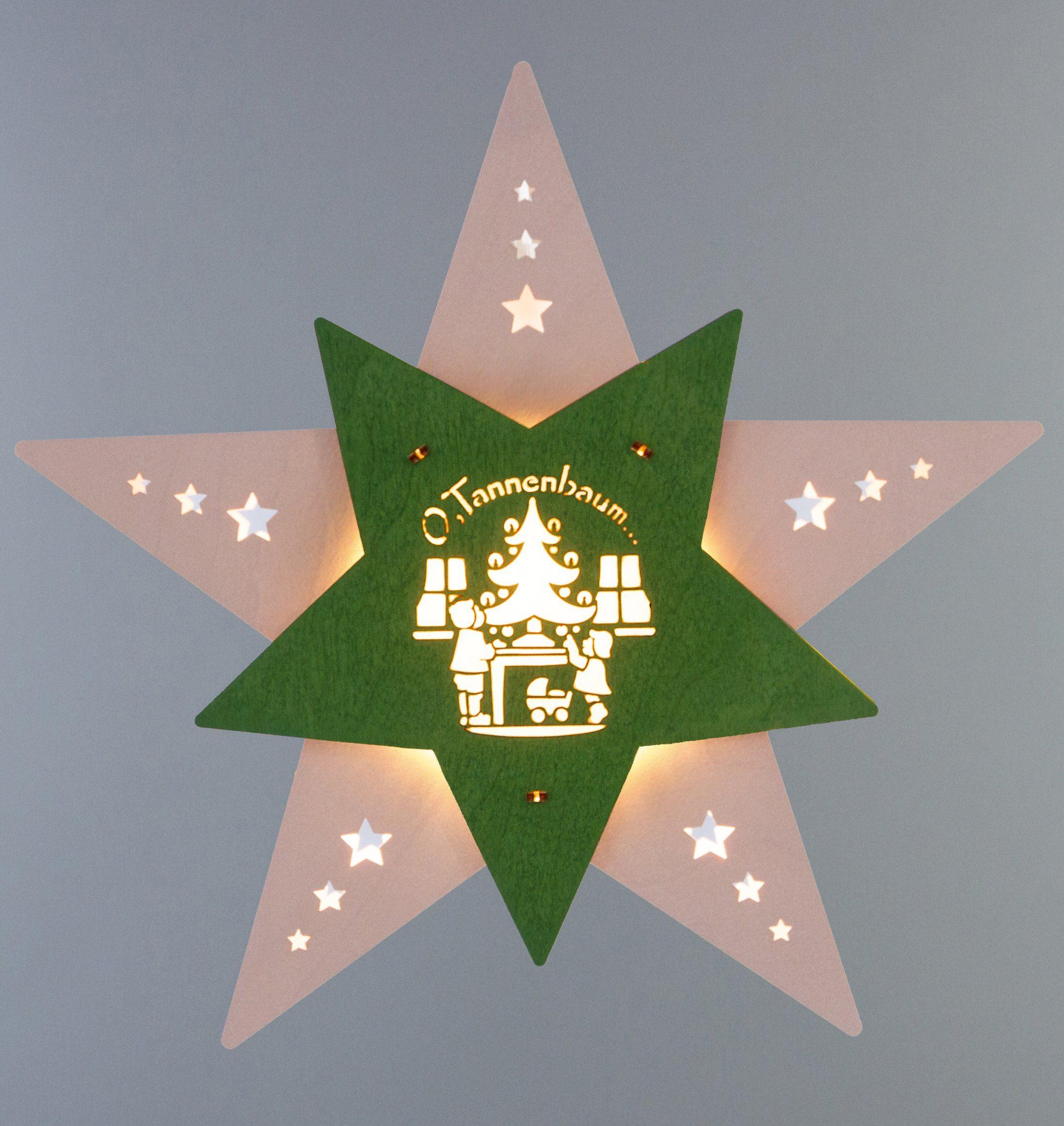 Weigla® Fensterbild, LED, »Oh Tannenbaum«