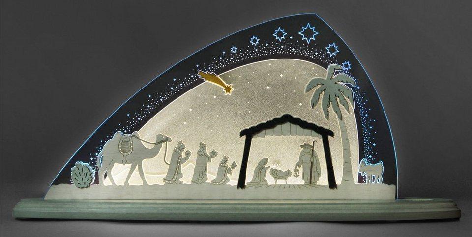 Weigla® Motivleuchte, »Christi Geburt« in transparent/weiß/blau
