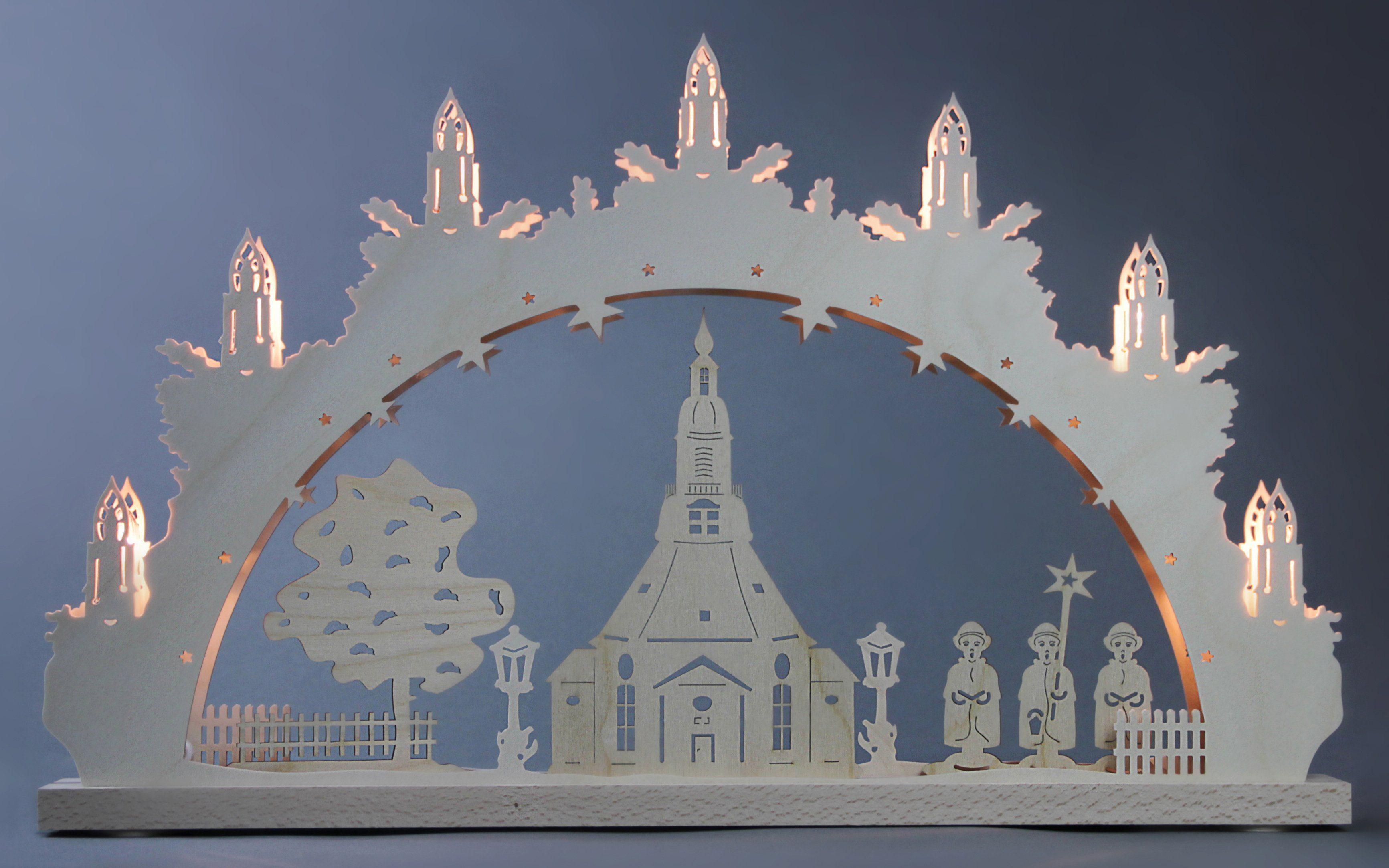 Weigla® Schwibbogen, 7-flammig, »Seiffener Kirche«