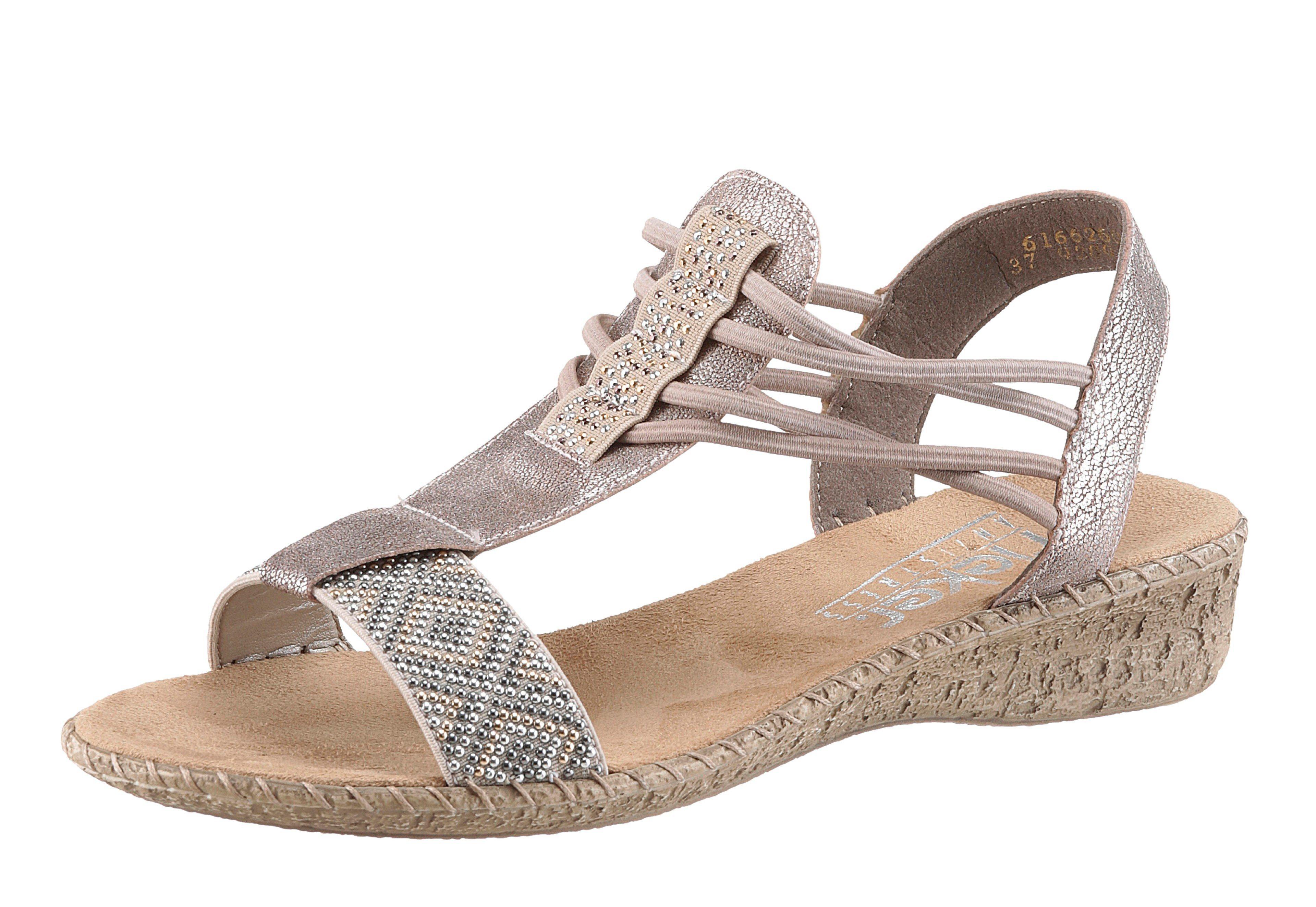 Rieker Riemchensandale in Metallic-Optik   Schuhe > Sandalen & Zehentrenner > Sandalen   Rieker