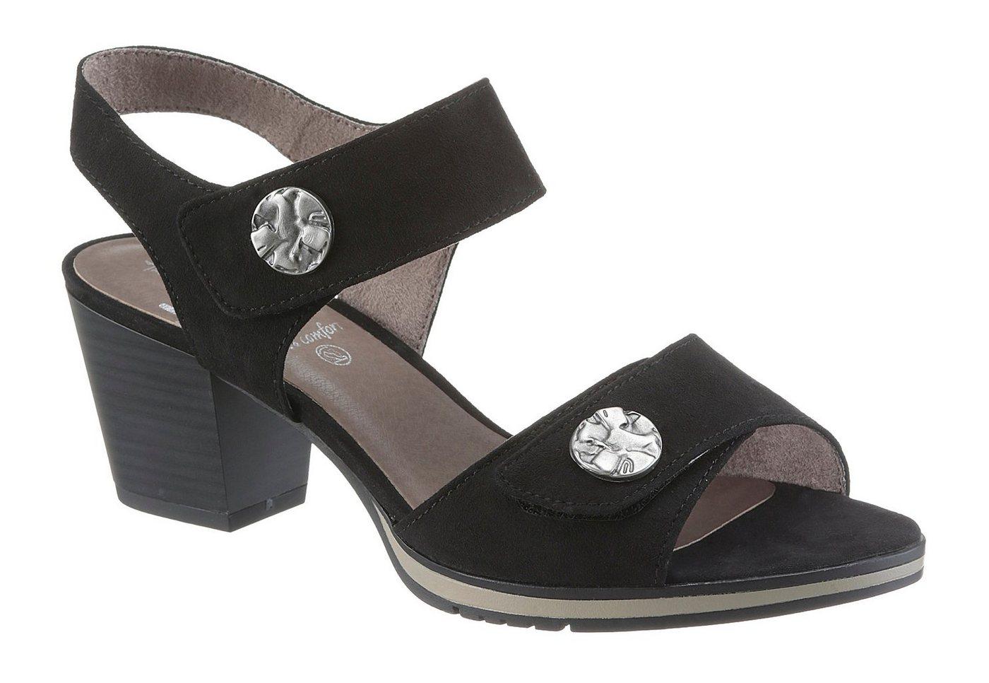 Damen Jana Sandalette in bequemer Schuhweite H (sehr weit) schwarz  Damen Sandalen/Sandaletten