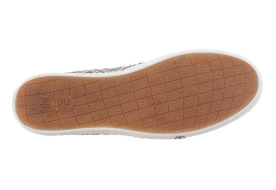 Rieker Slipper, mit schönem Muster