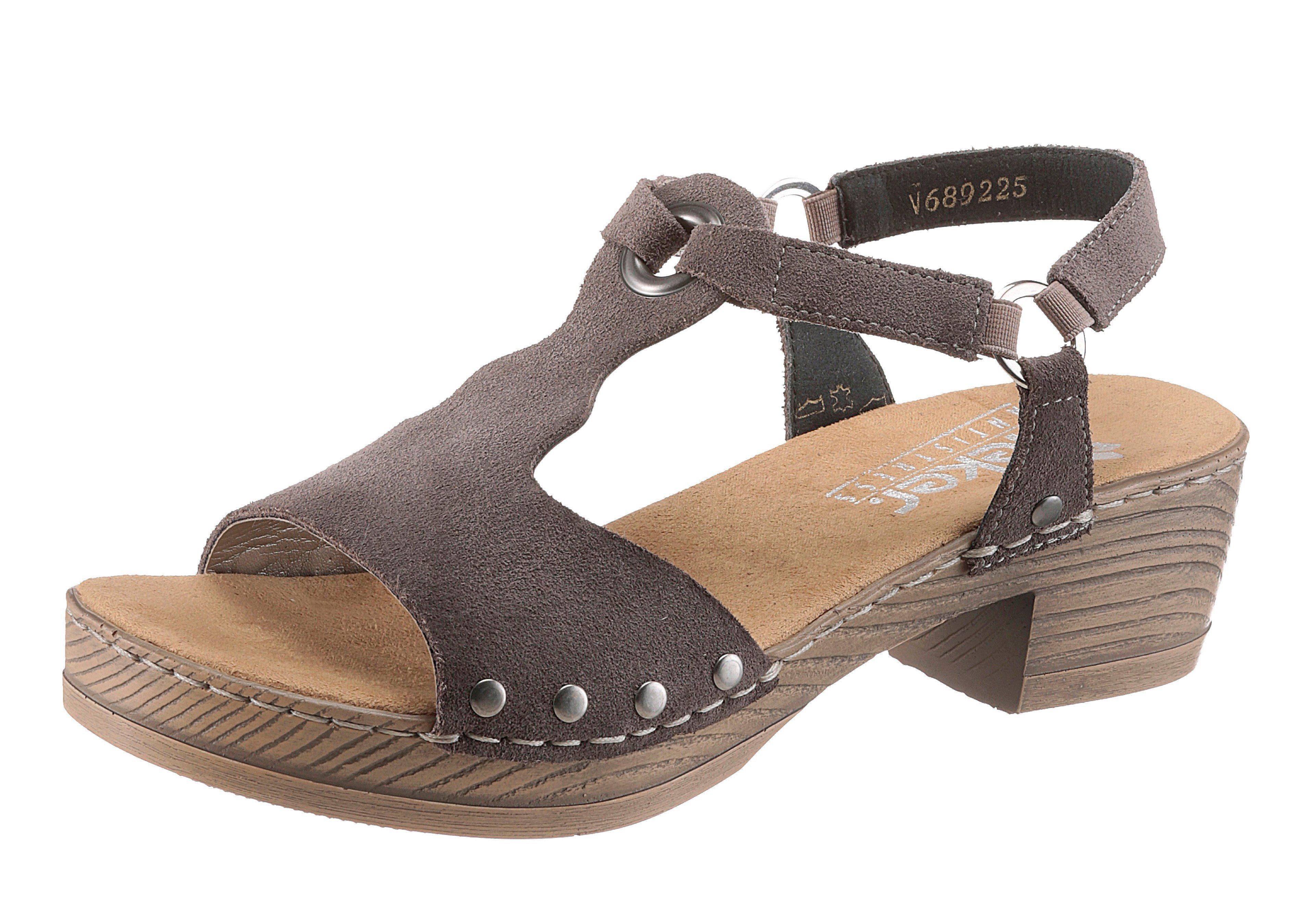Rieker Sandalette, mit Nieten und Schmuckringe  taupe