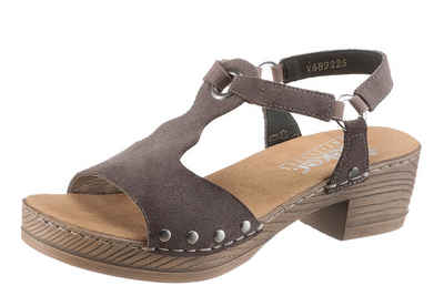 Rieker Sandalette mit Nieten und Schmuckringe c12294b0503