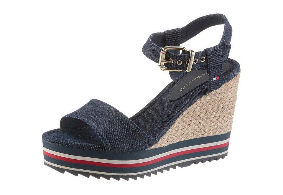 tommy hilfiger sandalette mit farbigem plateausabsatz online kaufen otto. Black Bedroom Furniture Sets. Home Design Ideas