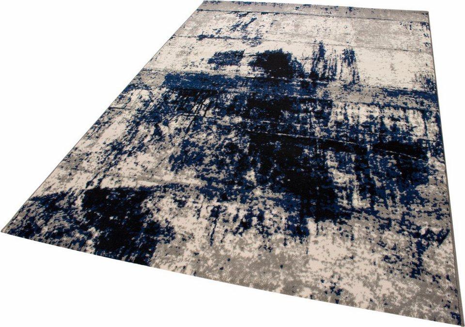 Teppich, Andiamo, »Rico 1«, gewebt in blau creme