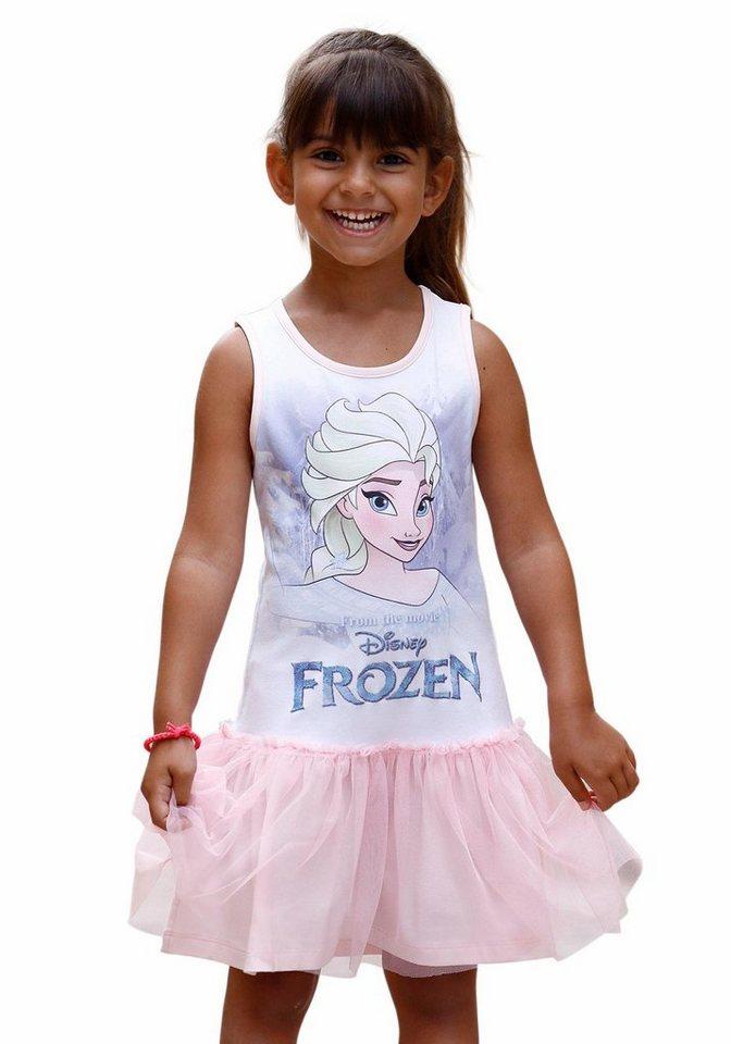 Disney Frozen Jerseykleid Die Eiskönigin - Elsa in rosa