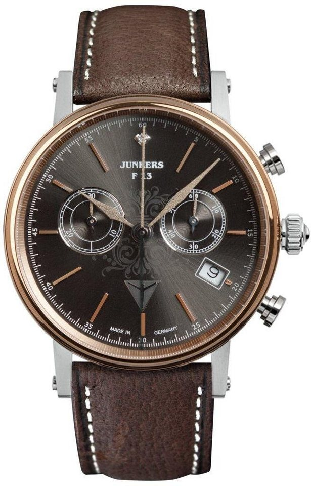 Junkers-Uhren Chronograph »Südamerika, 6583-2« Made in Germany in braun