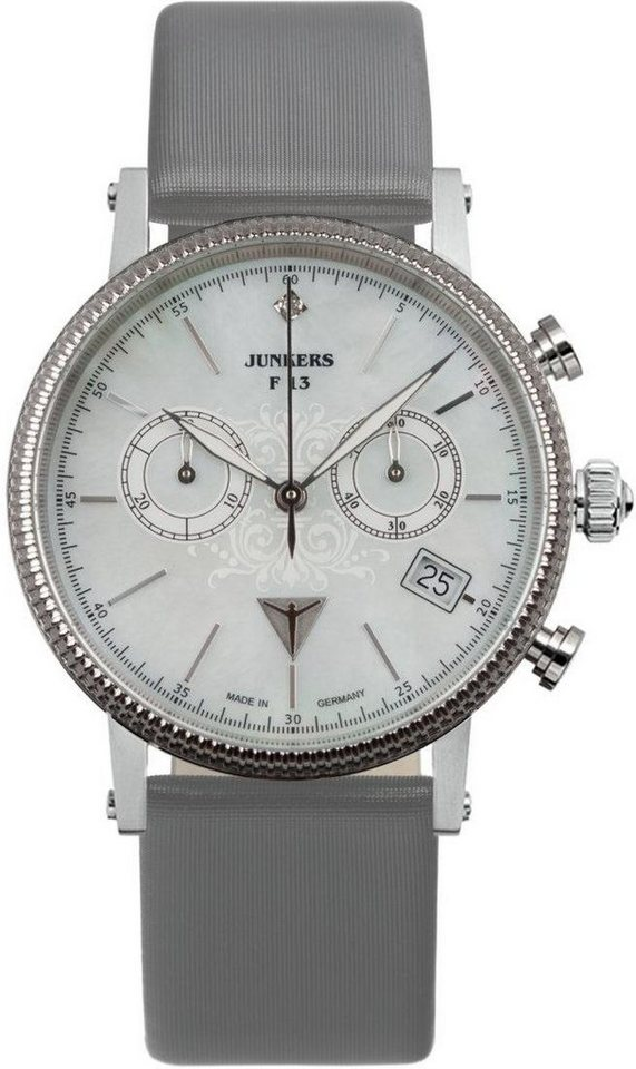 Junkers-Uhren Chronograph »Südamerika, 6581-1« Made in Germany in grau