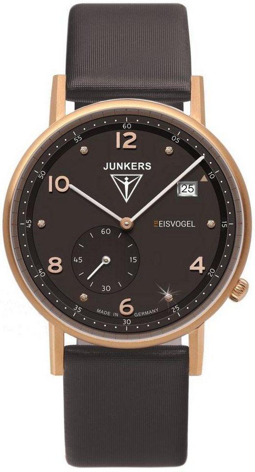 Junkers-Uhren Quarzuhr »Eisvogel F13, 6733-2« Made in Germany in braun