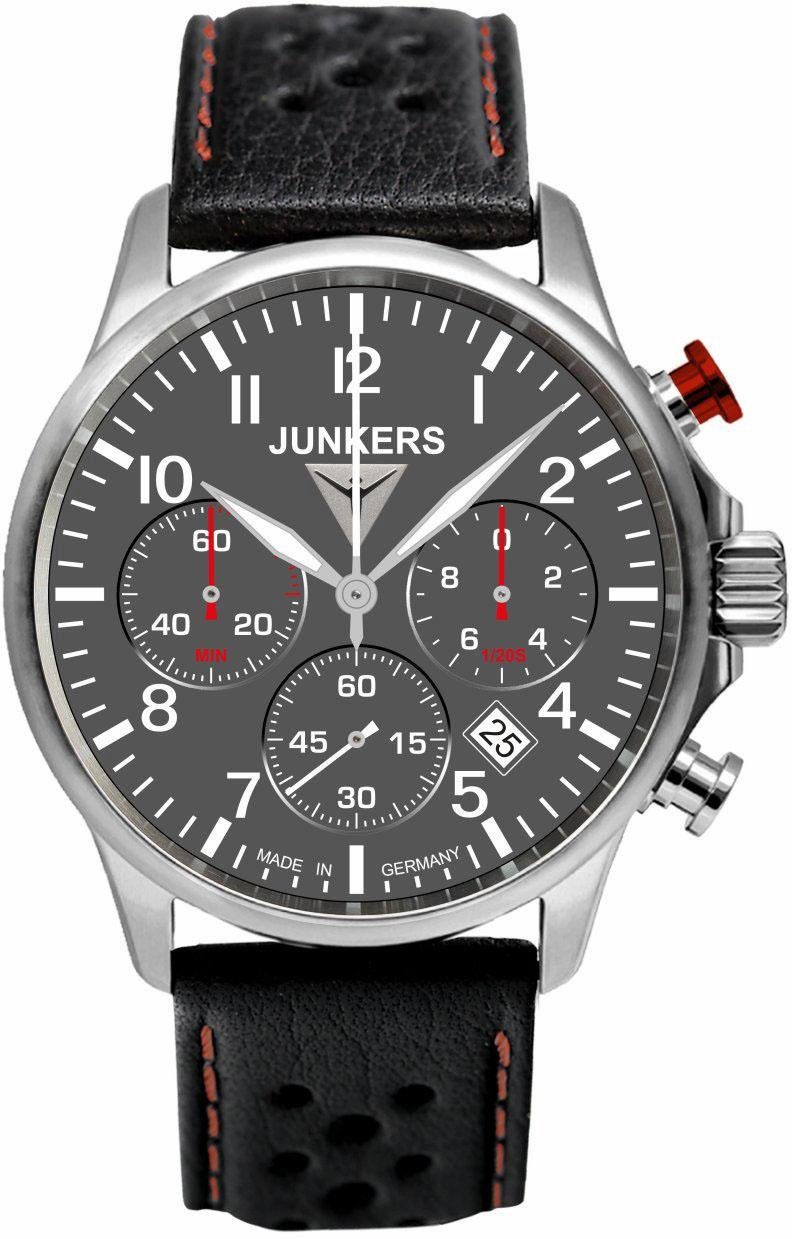 Junkers-Uhren Chronograph »Tante JU, 6874-2«, Made in Germany