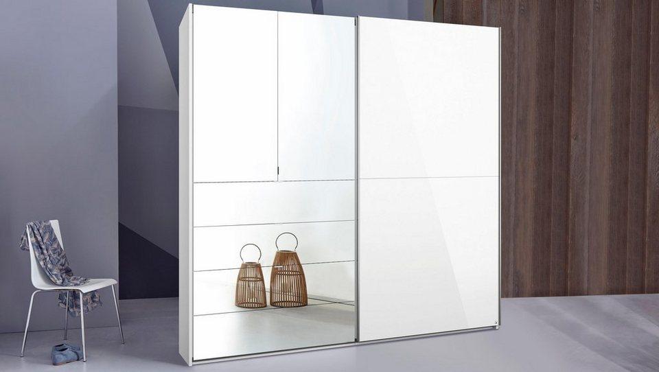 INOSIGN Schwebetürenschrank mit Hochglanz- und Spiegelfront in weiß
