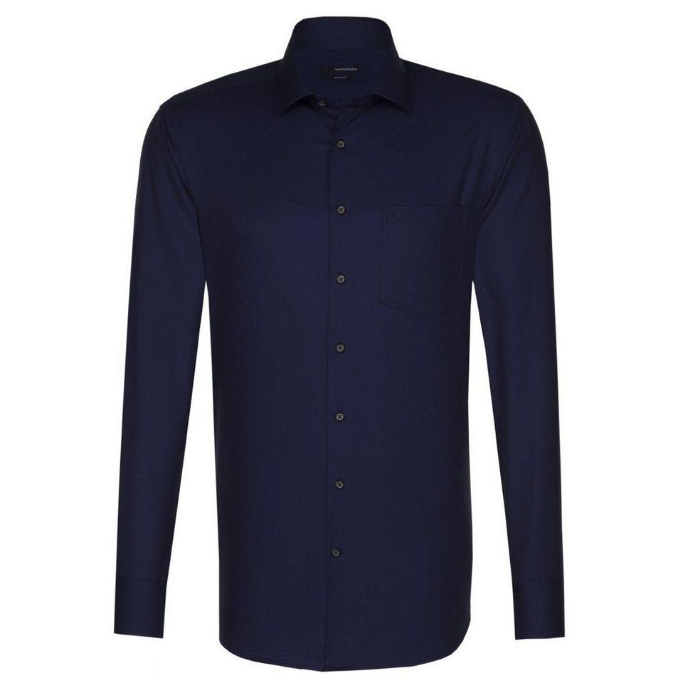 Seidensticker Businesshemd »Splendesto« in blau-dunkelblau