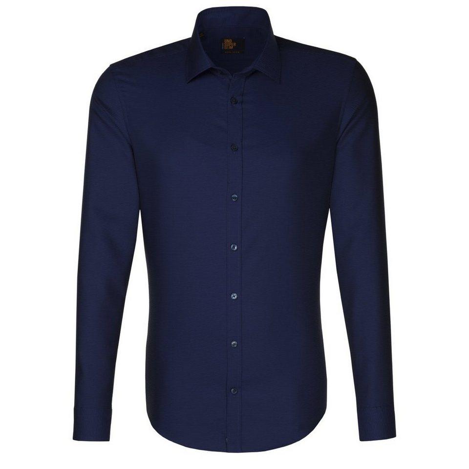 SEIDENSTICKER Businesshemd »Slim« in dunkelblau