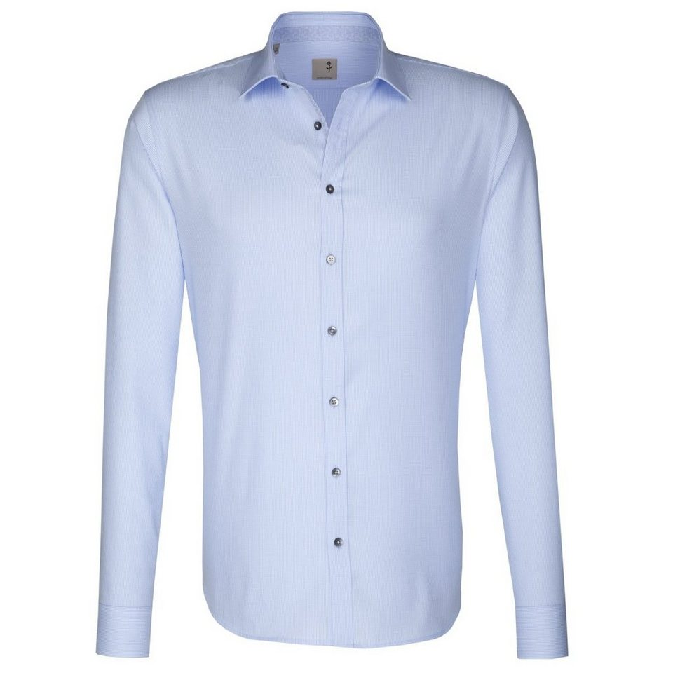 SEIDENSTICKER Businesshemd »Tailored« in hellblau