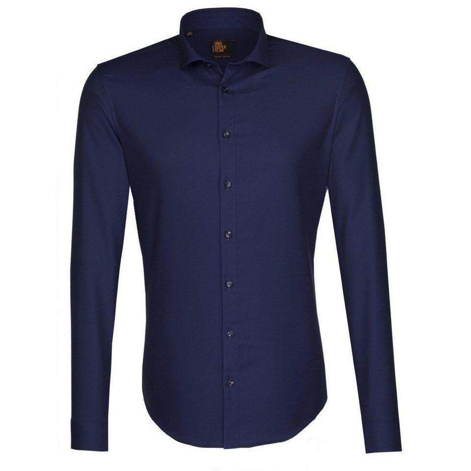 SEIDENSTICKER Businesshemd »Slim« in blau-dunkelblau