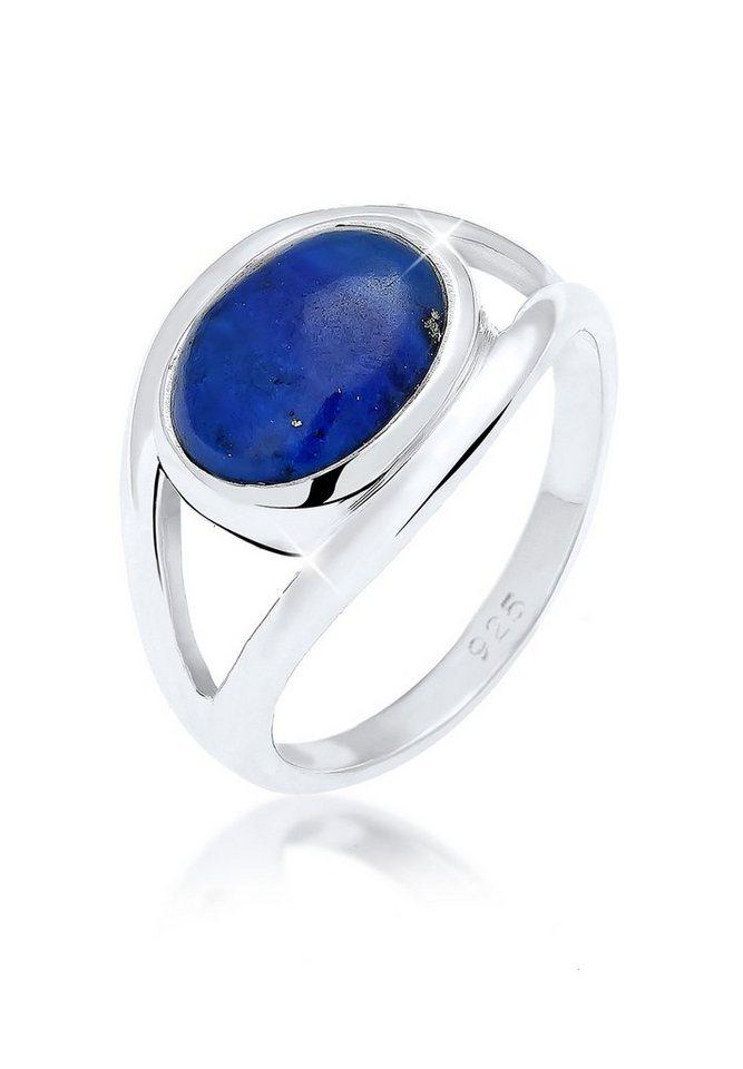 Elli Ring »Evil Eye Lapis Lazuli 925 Silber« in Blau