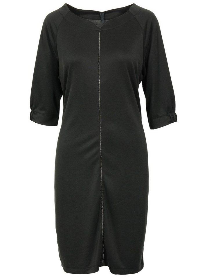 Imitz Jerseykleid in schwarz